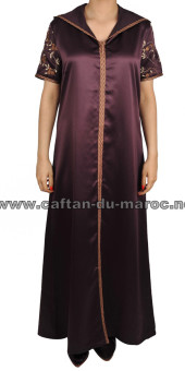 Djellaba satin marron